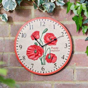 Poppy 12in Wall Clock