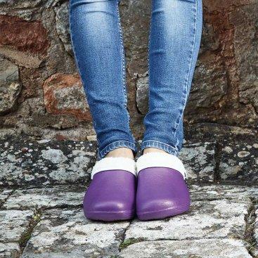 Comfi Fleece Clog Lilac S4