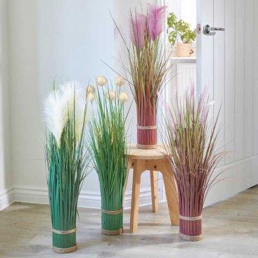Faux Bouquet - Lilac Grass Tails, 70cm