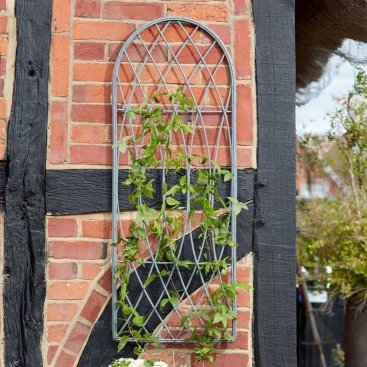 Rot-Proof Faux Willow Trellis Rounded 1.2m x 0.45cm - Slate