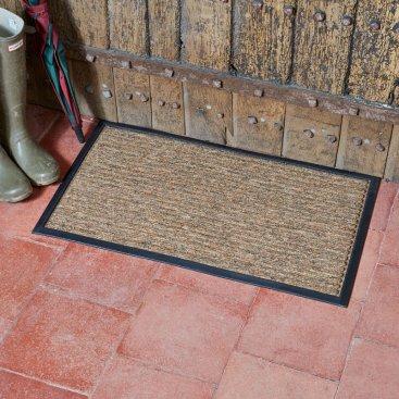 Opti-Mat Chestnut Striped - Rubber Backed 75x45cm