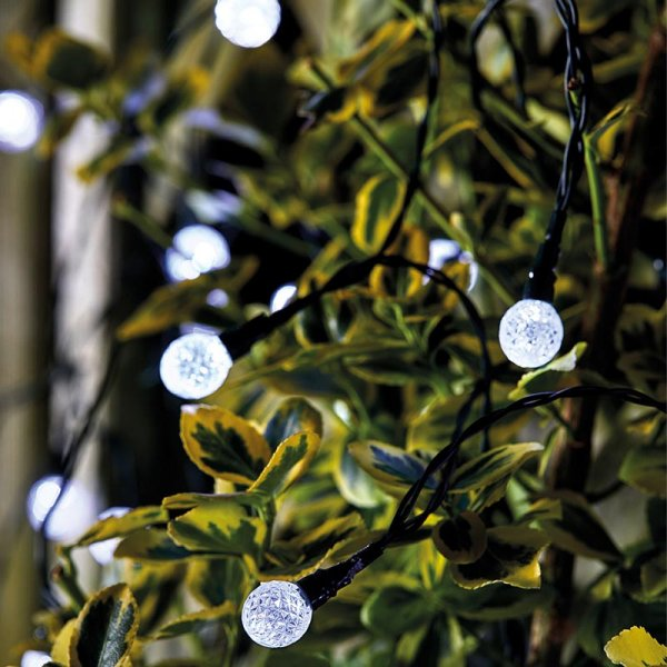 Ultra Solar String Lights, 50 Orbs