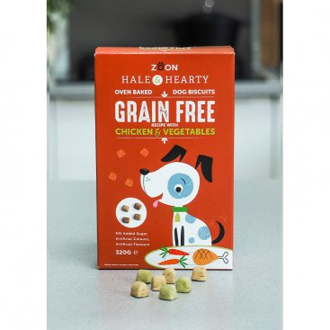 Hale & Hearty Chicken & Vegetable Grain Free Biscuits 320g