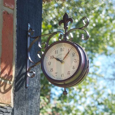 York Station Wall Clock & Thermometer