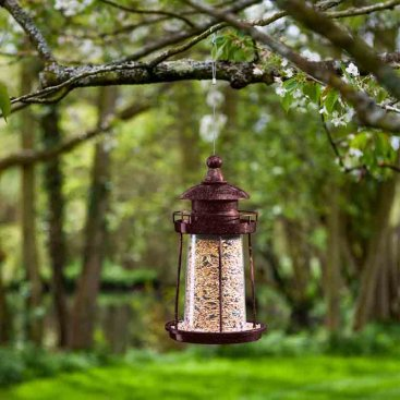 Lighthouse Seed Feeder - Copper