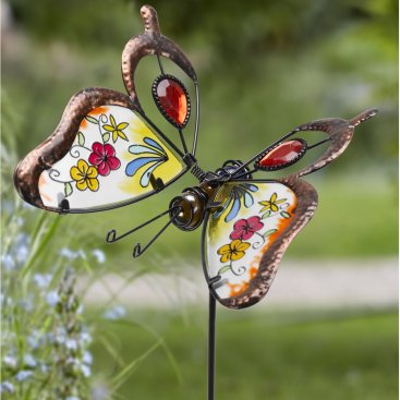 Butterfly Brilliance Border Stake, Red