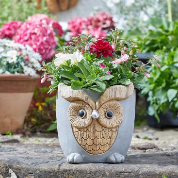 Woodstone Owl Planter