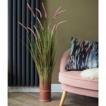 Faux Bouquet - Lilac Grass Tails 120cm