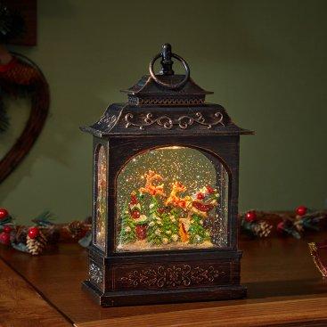 SnowSwirl Flying Santa Lantern