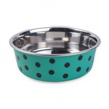 Green Polka 17cm Bowl