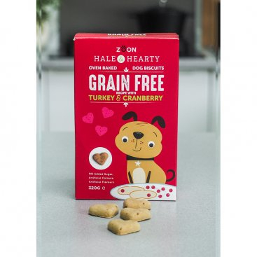 Hale & Hearty Turkey & Cranberry Grain Free Biscuits 320g