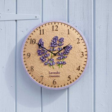 Lavender 12in Wall Clock