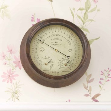 Westminster Barometer & Thermometer 8in