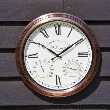 Mollington Wall Clock & Thermometer 15in