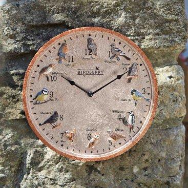 Birdberry Wall Clock 12in