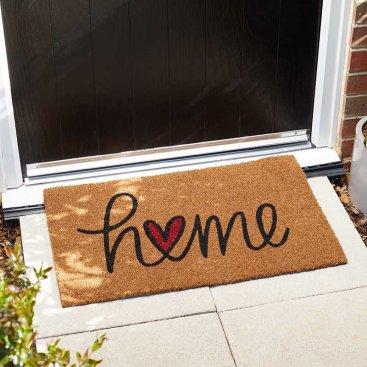 Home Is Where The Heart Is Decoir Mat 75x45cm